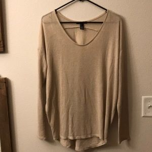 Forever 21 women's large tan top
